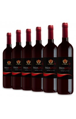 Piedirosso Pompeiano I.G.P. Rosso – Confezione da 6 bottiglie da L. 0,75